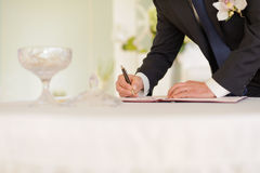 Signing Certificate Royalty Free Stock Images