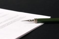 Signing contract Stock Images