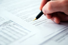 Signing contract. Royalty Free Stock Image
