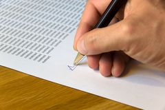 Signing a contract Royalty Free Stock Image