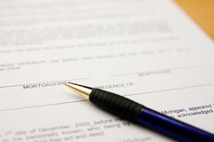 Signing contract 2. Mortgage contract ready to be signed Royalty Free Stock Photography
