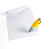 Signing contract. Isolated 3d render Royalty Free Stock Image
