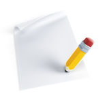 Signing contract. Isolated 3d render Royalty Free Stock Photography