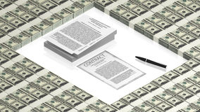 Signing of a contract Royalty Free Stock Images