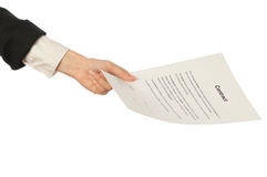 Signing of a contract Stock Images