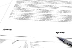 Free Signing Contract Stock Photo - 31848810