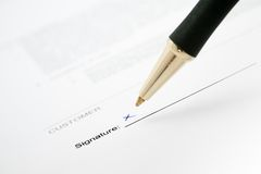Signing a contract Royalty Free Stock Photography