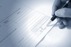 Signing contract Stock Photos