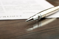 Signing a contract, business contract details Royalty Free Stock Image