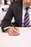 Signing a contract. Stock Photo