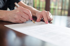 Signing of a contract Royalty Free Stock Photography