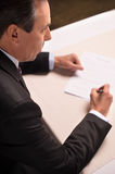 Signing a contract. Stock Photography