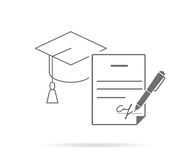 Signing contract stock illustration