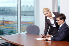 Signing of contracts Stock Photography