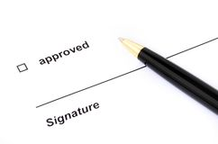 Signing a d document Royalty Free Stock Photos