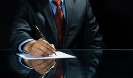 Signing a deal! Royalty Free Stock Photo
