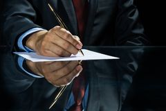 Signing a deal! Stock Image
