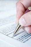 Signing Document Stock Photos