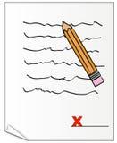 Signing document royalty free illustration