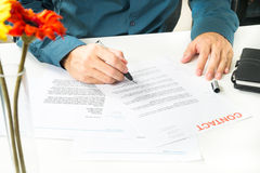 Signing Document for Business Royalty Free Stock Images