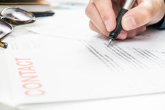 Signing Document for Business Royalty Free Stock Photo