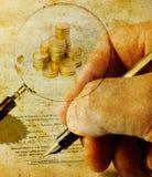 Signing Royalty Free Stock Image