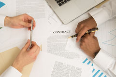 Signing a document. Royalty Free Stock Photography