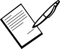 Signing a document vector illustration Royalty Free Stock Photography