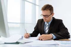 Signing documents Royalty Free Stock Images