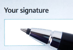 Signing form Stock Image