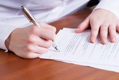 Signing girl Royalty Free Stock Image