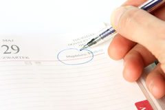 Free Signing In Calendar Stock Images - 4632434