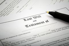 Signing Last Will & Testament Stock Photography