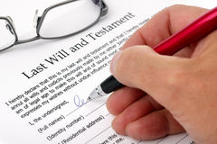 Signing Last Will and Testament Royalty Free Stock Photos