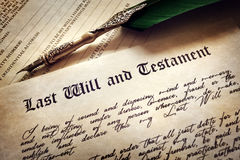 Signing Last Will and Testament Stock Image