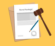 Signing legal concept of nurse law illustration. Vector Stock Images