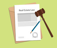 Signing legal concept of real estate law illustration. Vector Stock Photography