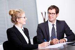 Signing new business contract Royalty Free Stock Photo