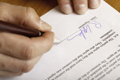 Free Signing Of Contract Stock Image - 10709631