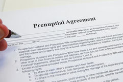 Signing a prenup Stock Images