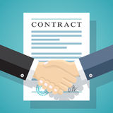 Signing of a treaty business contract. Stock Image