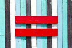 Signo de igualdad del rojo Imágenes de archivo libres de regalías