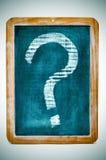 Signo de interrogación Fotos de archivo libres de regalías