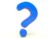 signo de interrogación 3d Imágenes de archivo libres de regalías