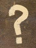 Signo de interrogación Imagen de archivo libre de regalías
