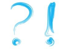 Signo de interrogación con el Info ilustración del vector