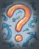 Signo de interrogación de la pintada ilustración del vector