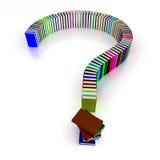 Signo de interrogación de libros Imágenes de archivo libres de regalías