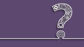 Signo de interrogación de los engranajes