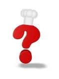 Signo de interrogación del cocinero Fotos de archivo libres de regalías
